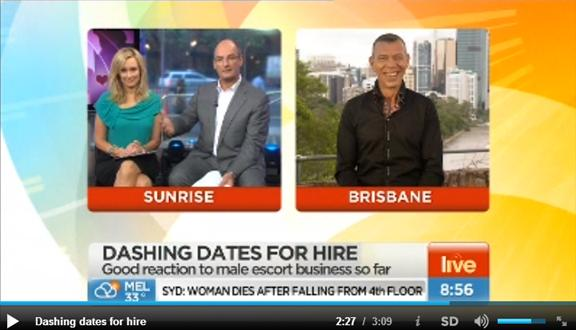 Male Escort Business Interview with Kochie and Mel